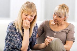 Mom talks to teenage daughter