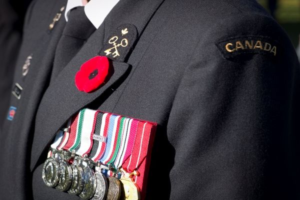 picture of a veteran in uniform displaying medals