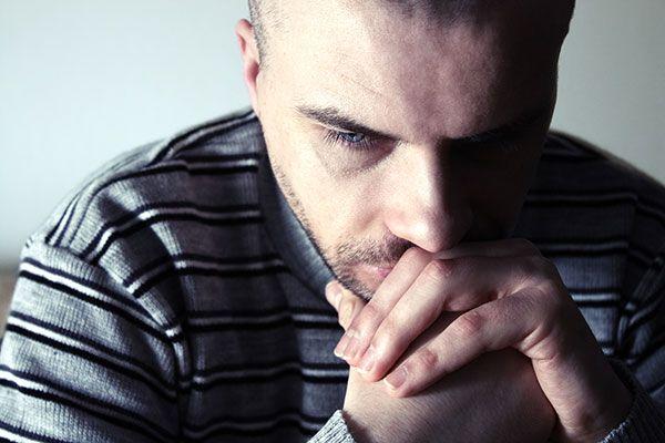 Man who is depressed