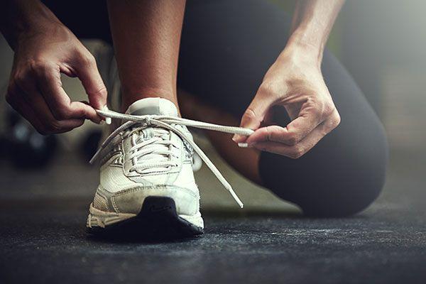 orthotics woman running shoe