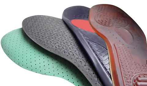 various types of orthotic insoles