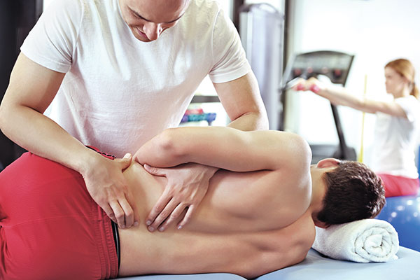 chiropractor working on back